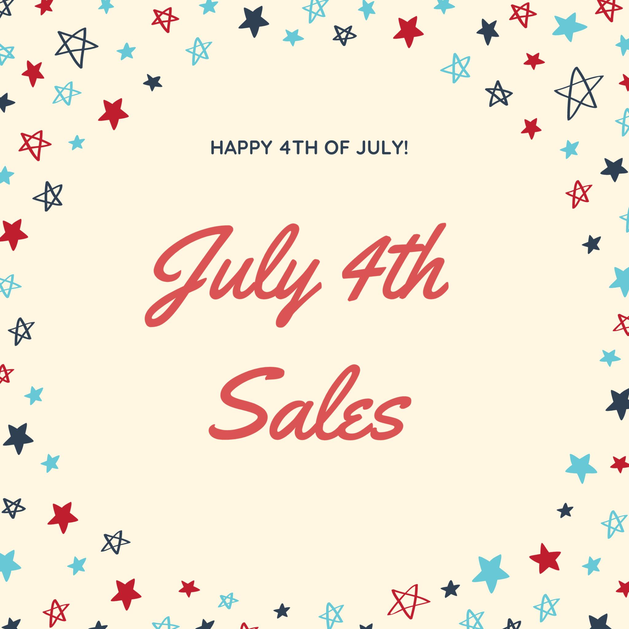 July 4th Weekend Sales