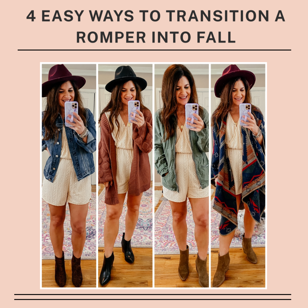 4 Easy Way to Transition a Romper into Fall