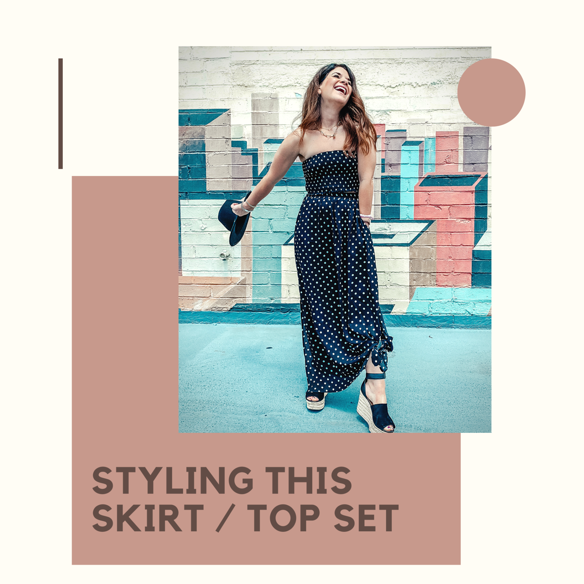 Styling this cute skirt/top set multiple ways